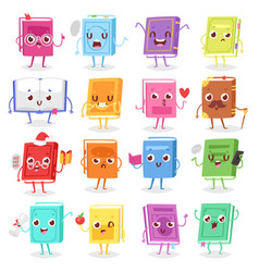 book character cartoon emotion textbook vector image