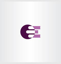 books logo purple icon vector image