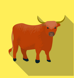 Brown bull with hornsmountain bull is a symbol of vector