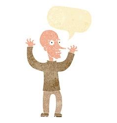 Cartoon mean man with speech bubble vector