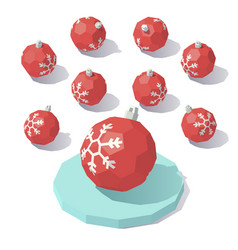 Christmas toy red ball vector
