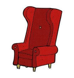 Comic cartoon old chair vector