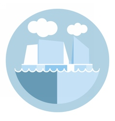 Digital iceberg and glacier icon vector