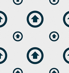 Direction arrow up icon sign seamless pattern with vector