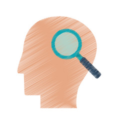 Drawing profile head search creativity vector