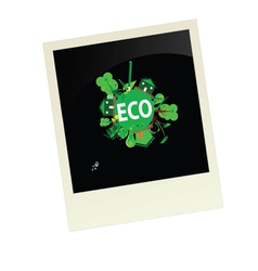 eco picture vector image