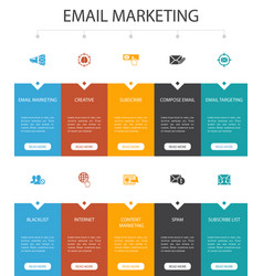 Email marketing infographic 10 option ui design vector