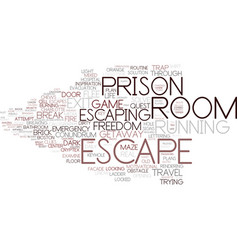 Escaping word cloud concept vector