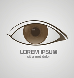 Eye brown logo vector image