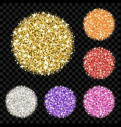 glitter background set vector image