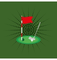 Golf sport game vector
