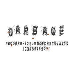 grunge abc alphabet vector image