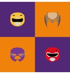 Halloween Costume Masks vector