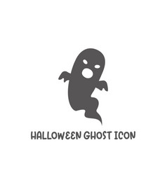halloween ghost icon simple flat style vector image