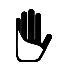 Hands human made icon vector