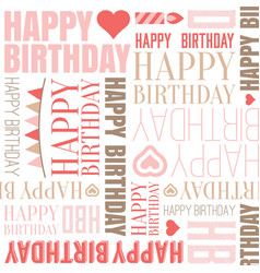 happy birthday alphabet headline seamless vector image