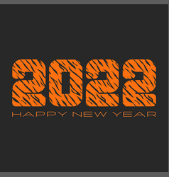 happy new year banner mockup logo 2022 number vector image