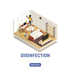 Home disinfection isometric background vector