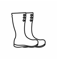 Hunting boots icon outline style vector