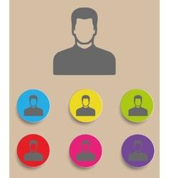 icon of man vector image