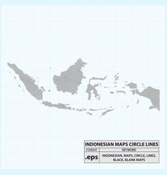 Indonesian maps circle lines vector