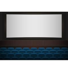 Interior a cinema movie theatre blue cinema or vector