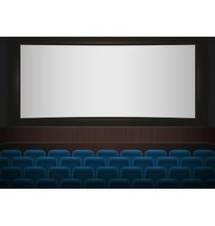 Interior of a cinema movie theatre Blue cinema or vector image