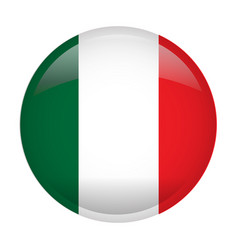Isolated flag of italy vector