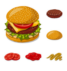 Isolated object of burger and sandwich logo vector