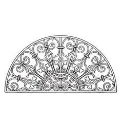 Italian renaissance lunette panel is found on a vector