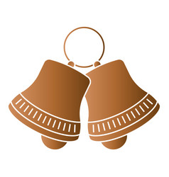 Jingle bell sleigh bells flat colour icon vector