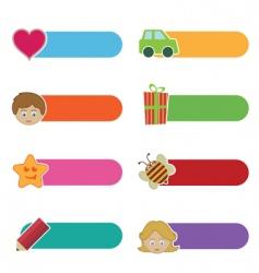 kids tabs vector image