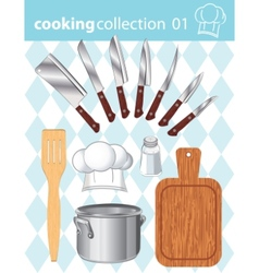 Kitchen and cooking collection vector