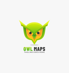 logo owl maps gradient colorful style vector image