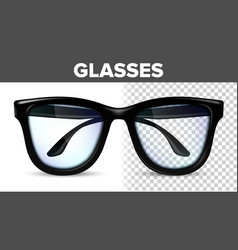 man male glasses black classic eyewear vector image