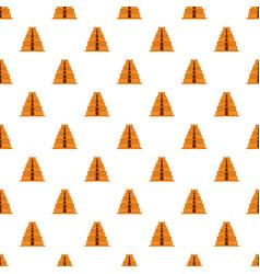 mayan pyramid pattern seamless vector image