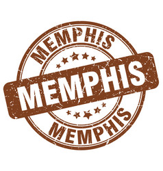 Memphis brown grunge round vintage rubber stamp vector
