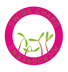 Microgreens swiss chard seed packaging design vector