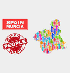 Murcia province map population people and unclean vector