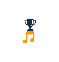 music trophy logo icon design vector image