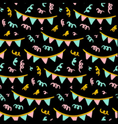 party flags seamless pattern vector image