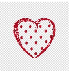Polka dot heart happy valentines day vector