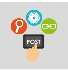 Post technology social media concept vector