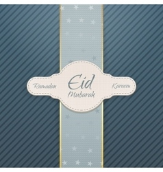 Ramadan Kareem Eid Mubarak realistic Badge vector