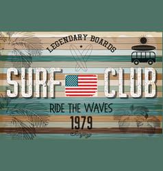 Retro grunge surfing poster vector