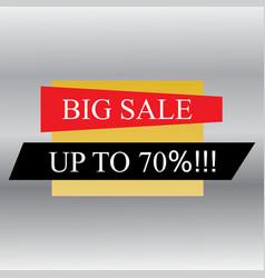 sale banner design big sale special offer vector image