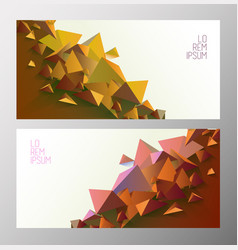 set of book cover templates with polygonal shapes vector image