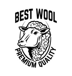 Sheep wool factory emblem template sheep head vector