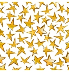 Shining golden stars seamless pattern background vector image