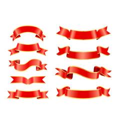 Silk or satin ribbons for vintage ornamentation vector
